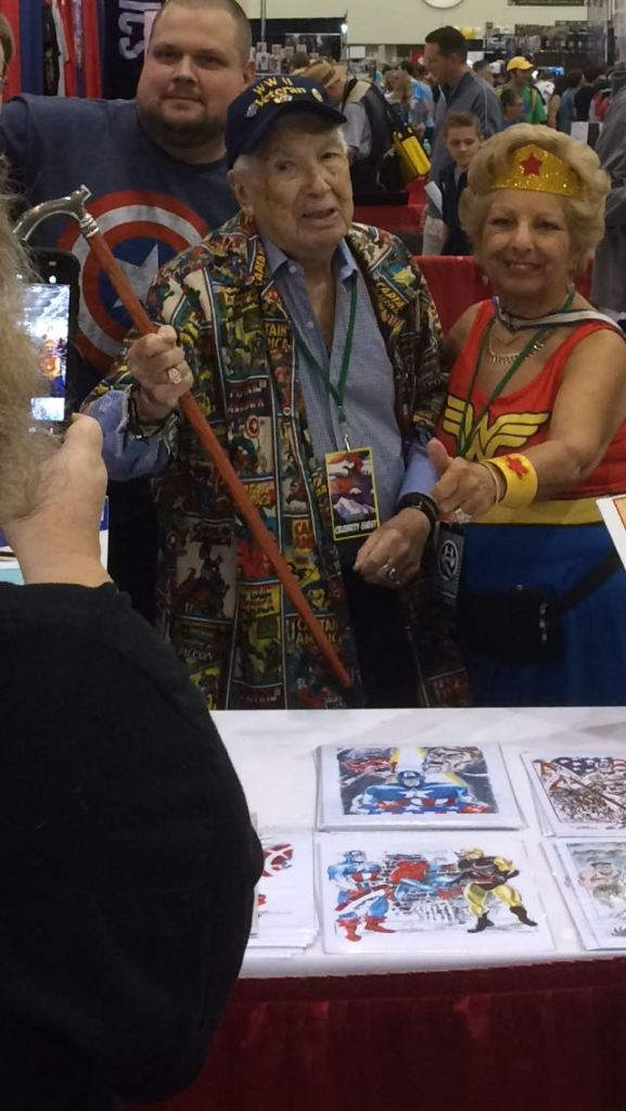 Couple at ComicCon Booth