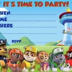 brithday invitation paw patrol free english piruchita