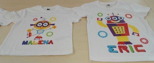 camisetas personalizadas de robots