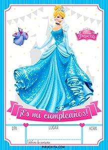Princess Disney Cinderella Birthday Invitation