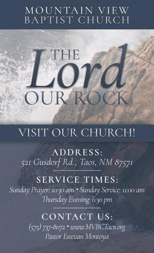 The Lord Our Rock Church Invitation: Front