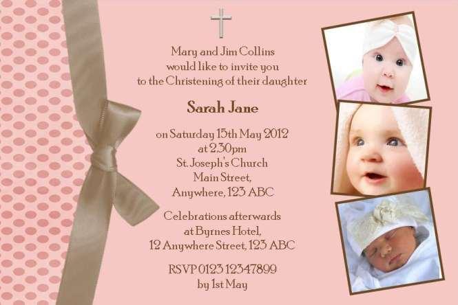Christening Invitation Card Free Sample – Sample of Invitation Card for Christening