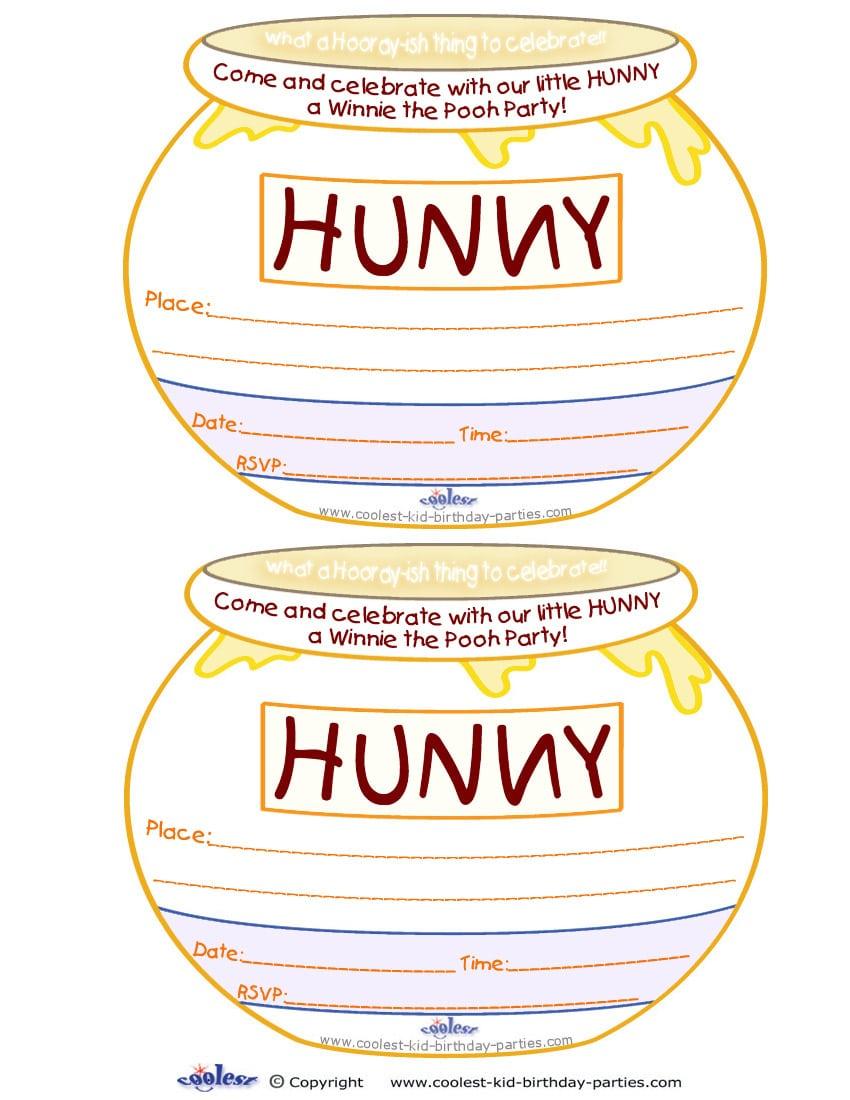free printable invitations winnie the pooh