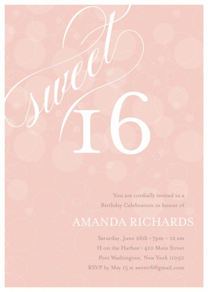 free printable sweet 16 invitation