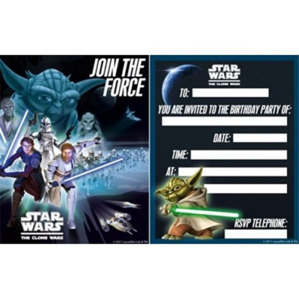 free star wars invitation templates