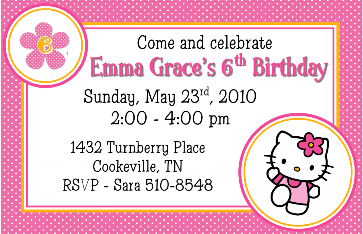 birthday invitation hello kitty templates