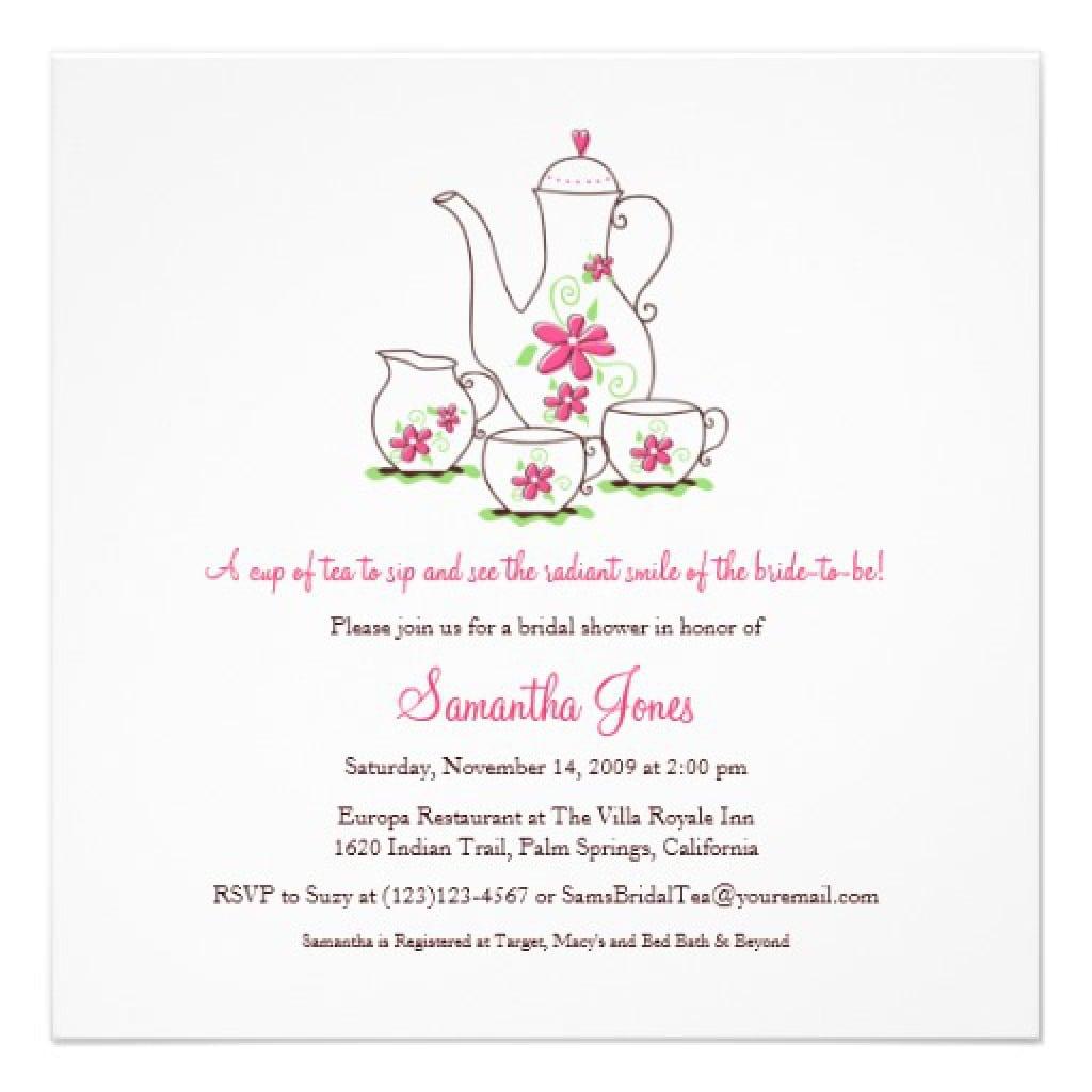 Free High Tea Party Invitation Templates | Invitationjpg.com