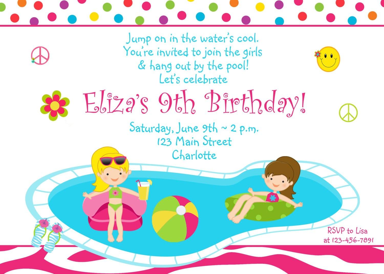 kids birthday party invitation sample