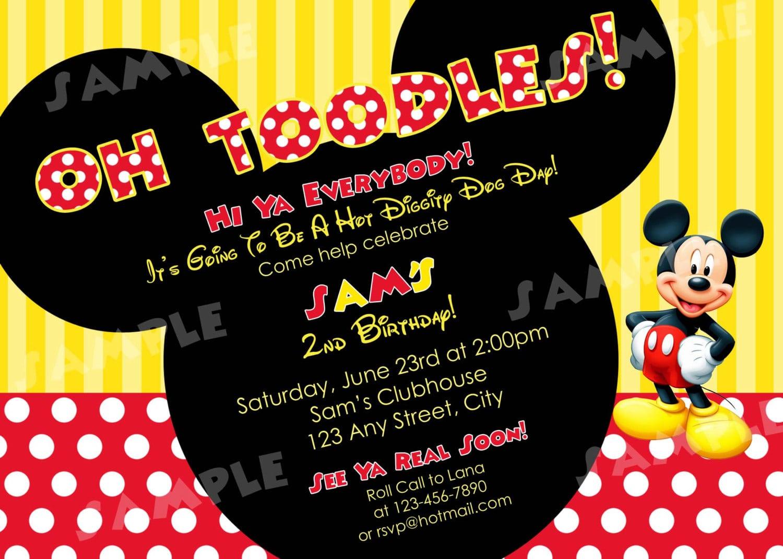 birthday invitation template mickey mouse