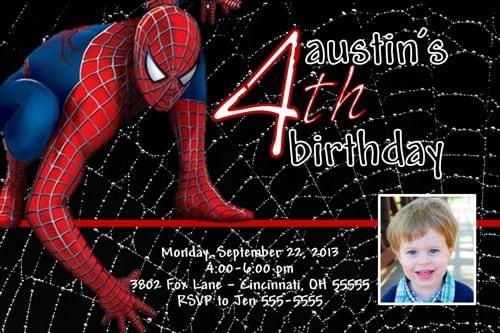 Spiderman Invitations Template