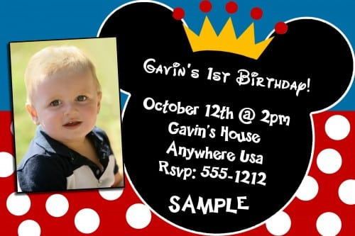1st birthday invitation mickey mouse