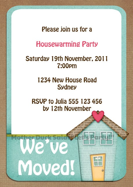 Free Housewarming Invitations