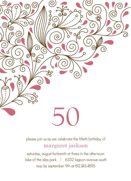 free th birthday invitation cards  wedding invitation sample, Birthday invitations