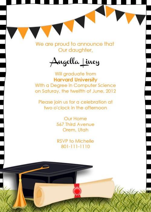 Invitation Letter Graduation Party | Sample best Resume