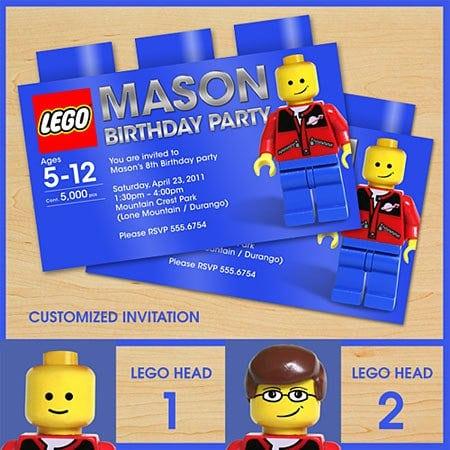 printable lego invites