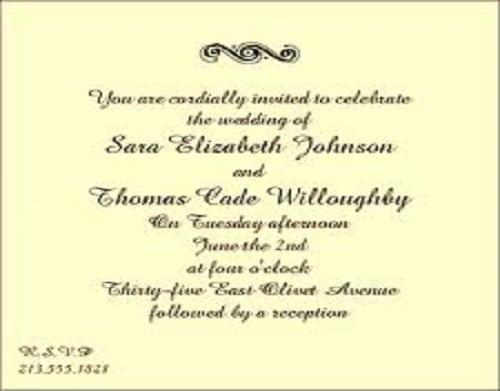 Reception Invitations Templates