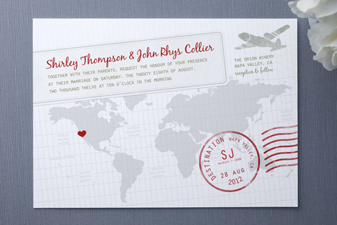 Faraway Destination Wedding Invitations