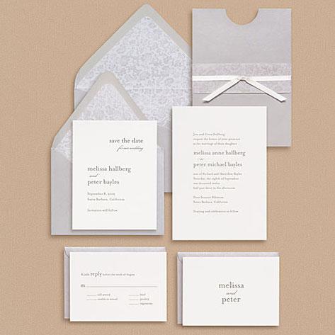 Paper Source Serif Type Wedding Invitations
