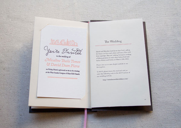 Set The Tone With Library Themed Invites
