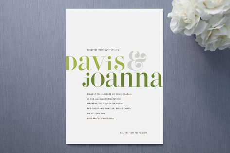 Vintage Gray Wedding Invitations