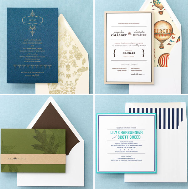 Brides Fine Wedding Papers Collection Invitation Crush
