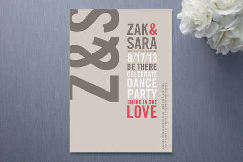 Modern Typography Wedding Invitations
