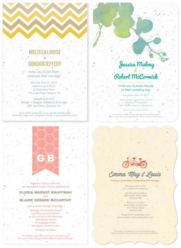 Rustic Tree Wedding Invitations Love In The Country Middot Plantable