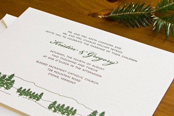 Evergreen Wedding Invitations