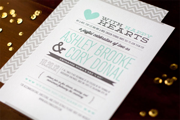 Modern Love Story Wedding Invitations