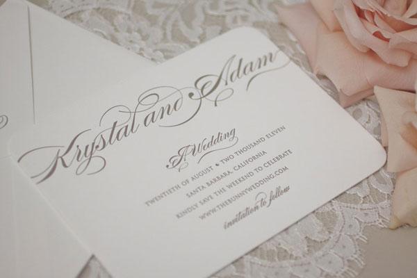 Linen Lace Bunny Wedding Invitations Vellum Vogue