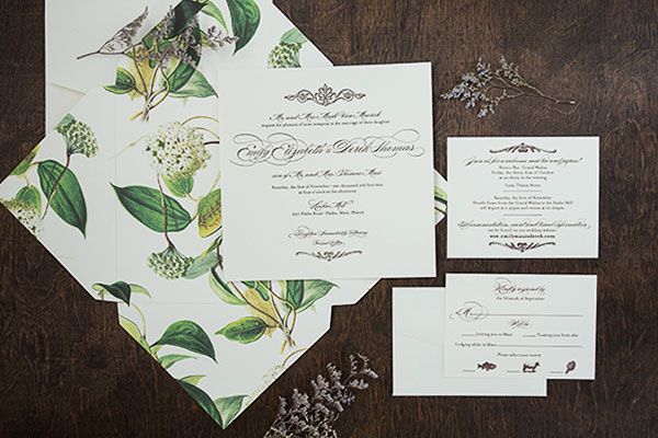 Fl Botanical Wedding Save The Date Pepper And Garden Invitation