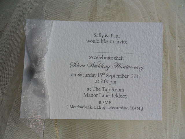85p each  Single Sided Silver Wedding Inmore 125