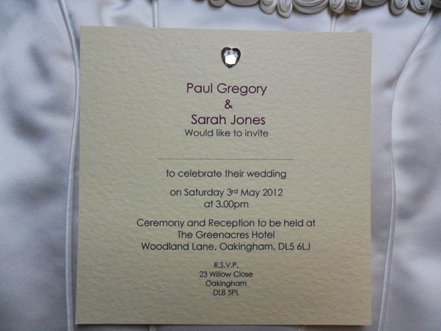 Personalised Wedding Invitation Wording