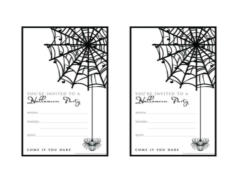 Black And White Party Invitation Template Free