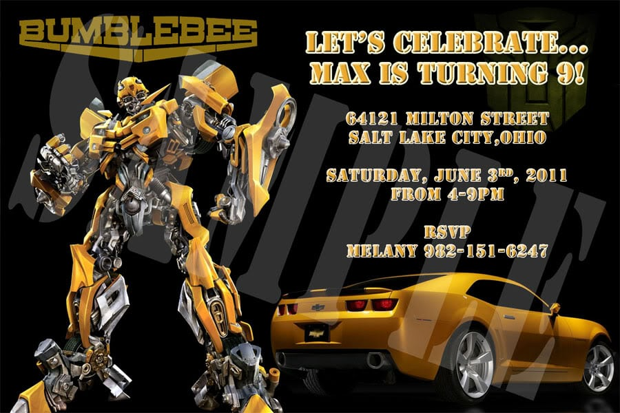 Transformers Invitation Template