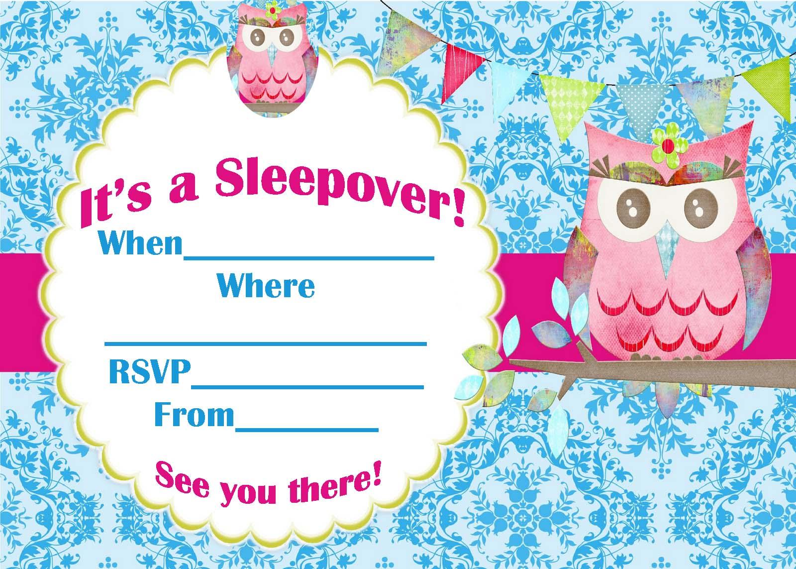 Printable Invitations Spa Party