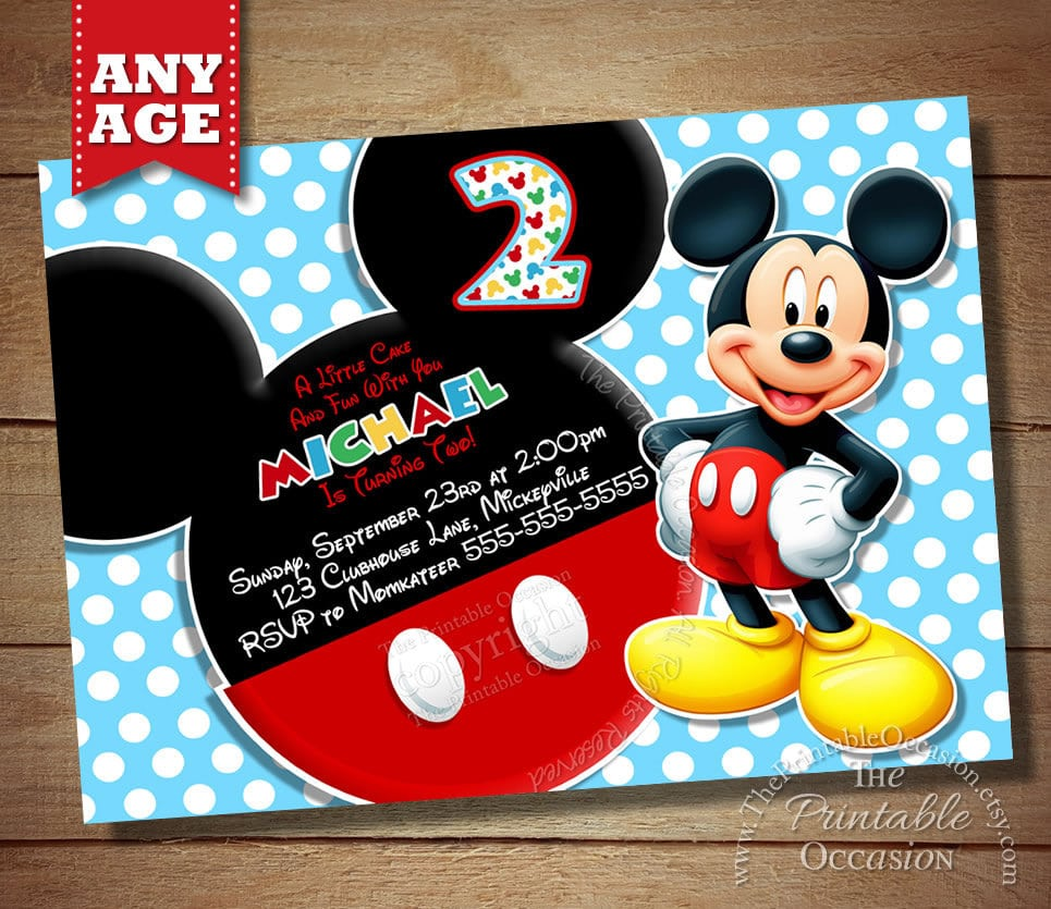 mickey mouse email invitations