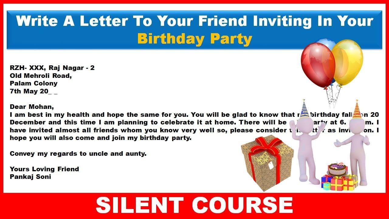 informal letter example inviting friend