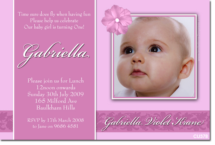Sample Christening Invitation Baby Boy