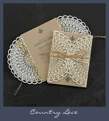 Image Of Real Lace Wedding Invitations