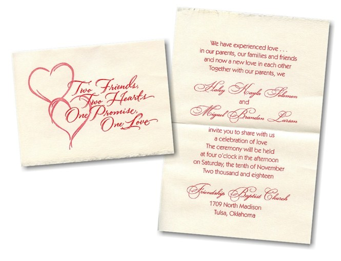 Wedding Invitation For Friends Text New