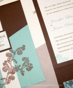 Jenn Pocketfold Wedding Invitation