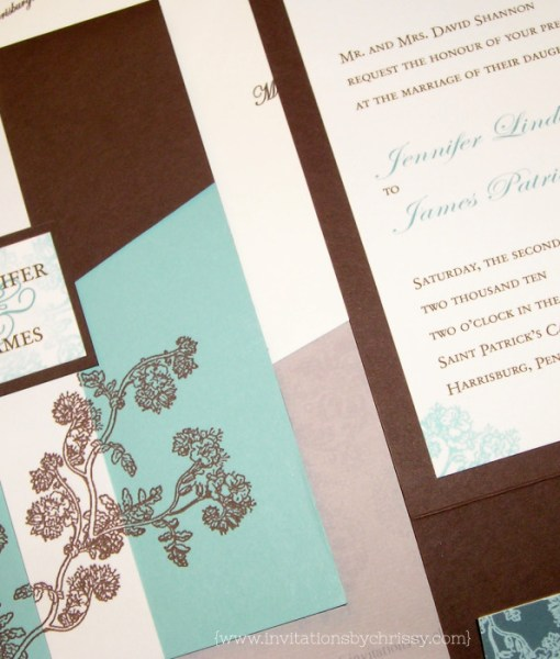 Jenn Pocketfold Wedding Invitation