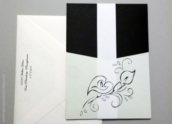 Leaf Pattern Wedding Invitation | a band completes the pattern