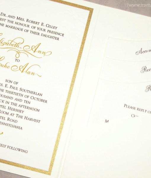 Elizabeth Pocketfold Wedding Invitation