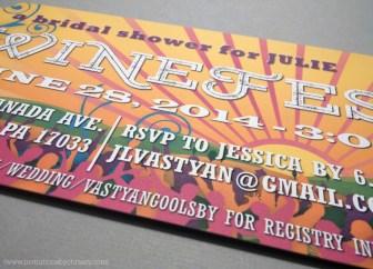 Winefest Bridal Shower Invitation | sunset, colors, crowd, wine