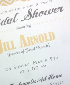Jill Bridal Shower Invitation