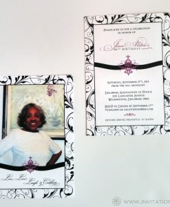 66th Birthday Invite Front & Back (Group) [2]