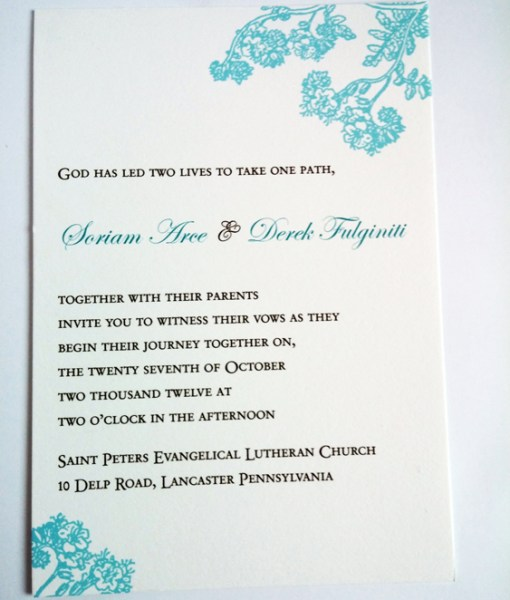 Soriam Wedding Invitation