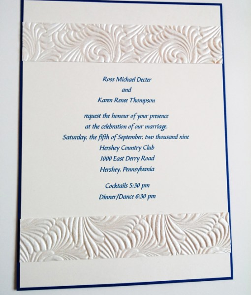 Karen T. Wedding Invitation